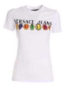 Versace Jeans Couture - Contrasting logo T-shirt in white