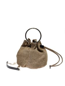 Borbonese - Small OP bucket bag in brown and beige
