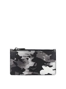 Dolce & Gabbana - Camoulfage leather card holder in black