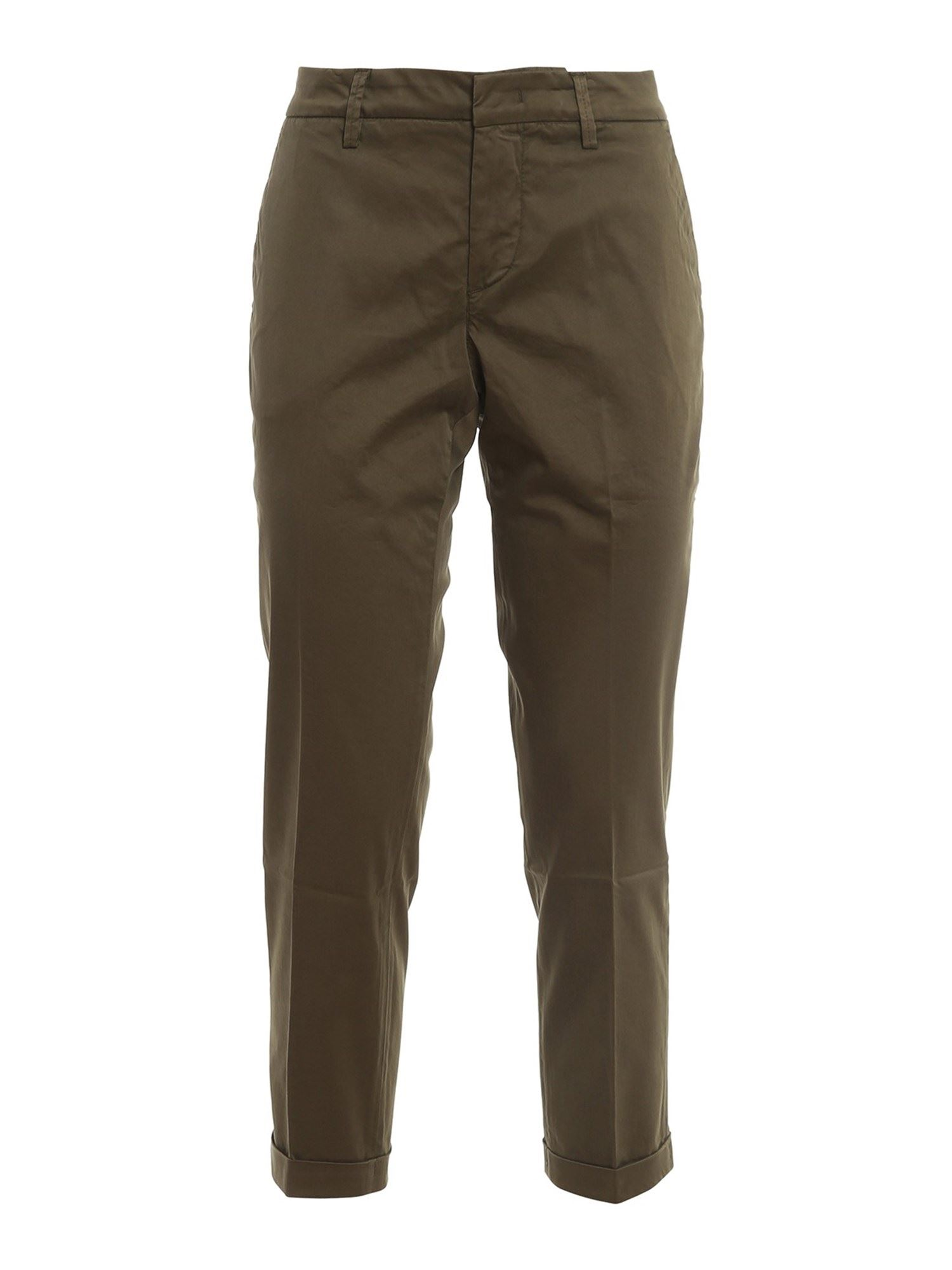 Fay Pants STRETCH COTTON IN GREEN