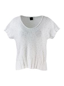Lorena Antoniazzi - Sequins top in white