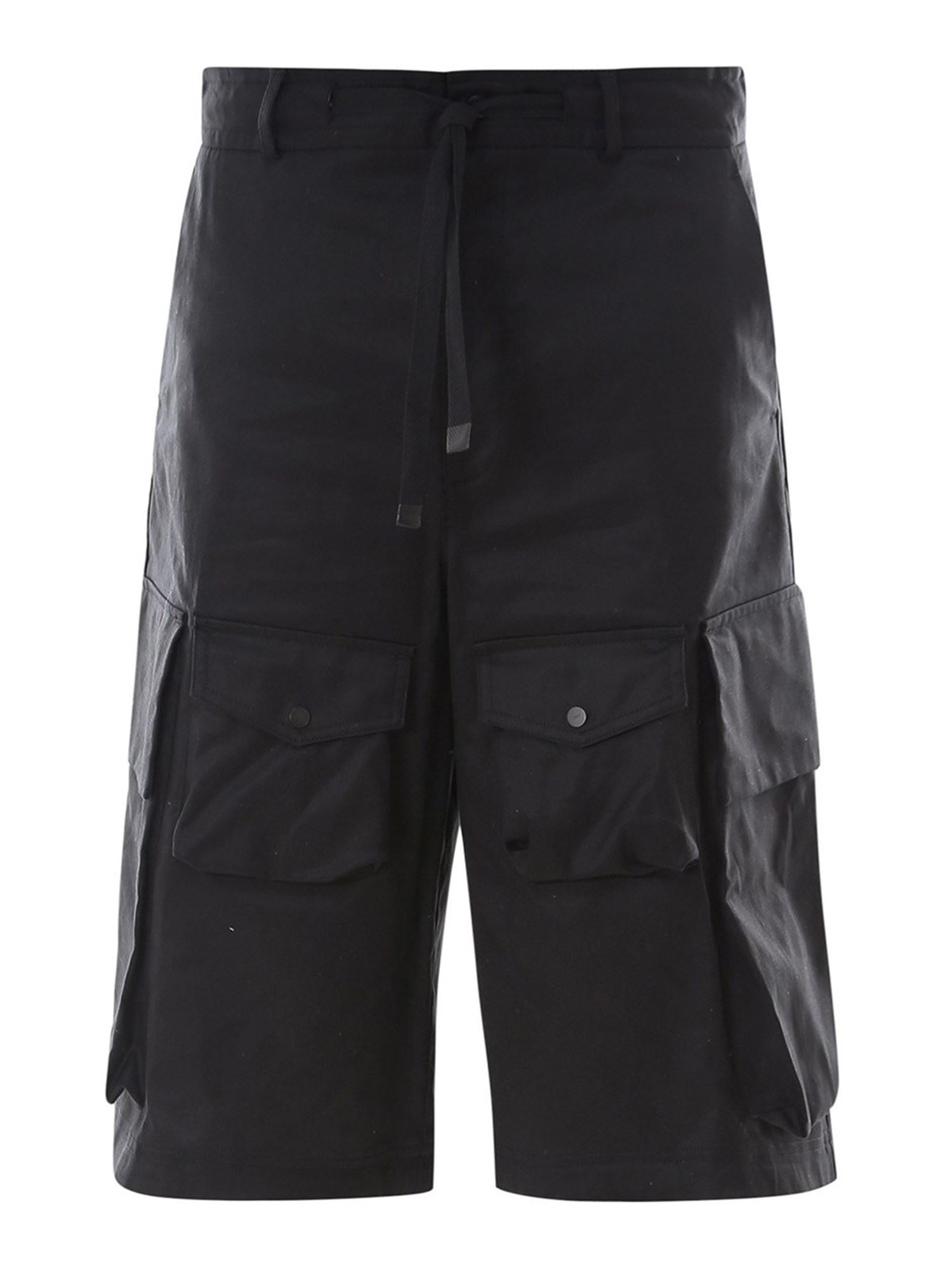Moncler COTTON CARGO SHORTS IN BLACK