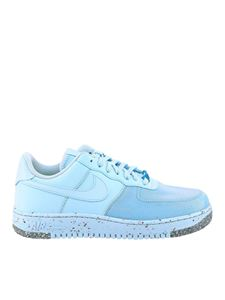 Nike - Air Force 1 faux leather sneakers in light blue