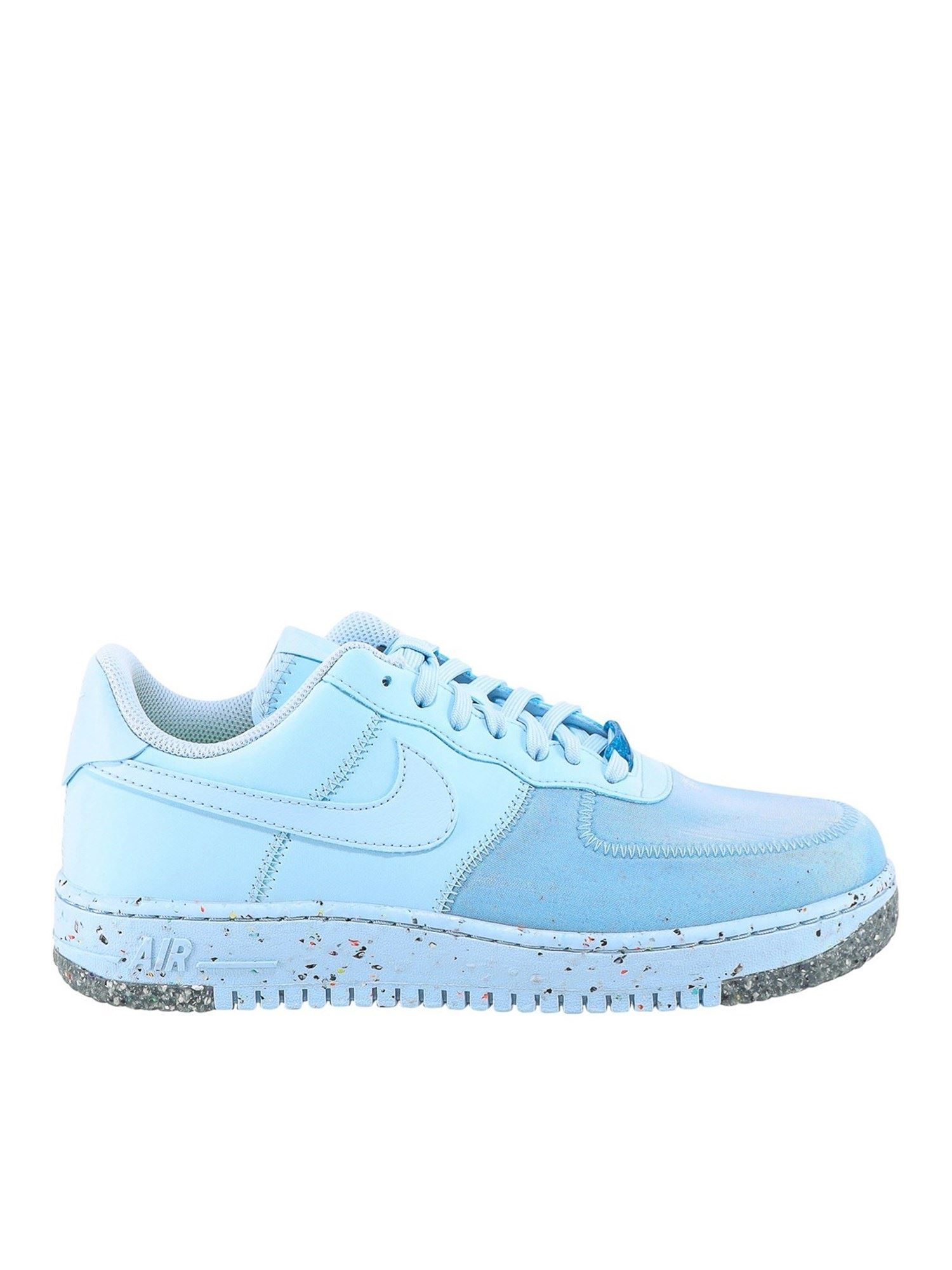 Nike AIR FORCE 1 FAUX LEATHER SNEAKERS IN LIGHT BLUE