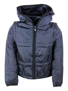 Emporio Armani - EA Kids windproof hooded jacket in blue