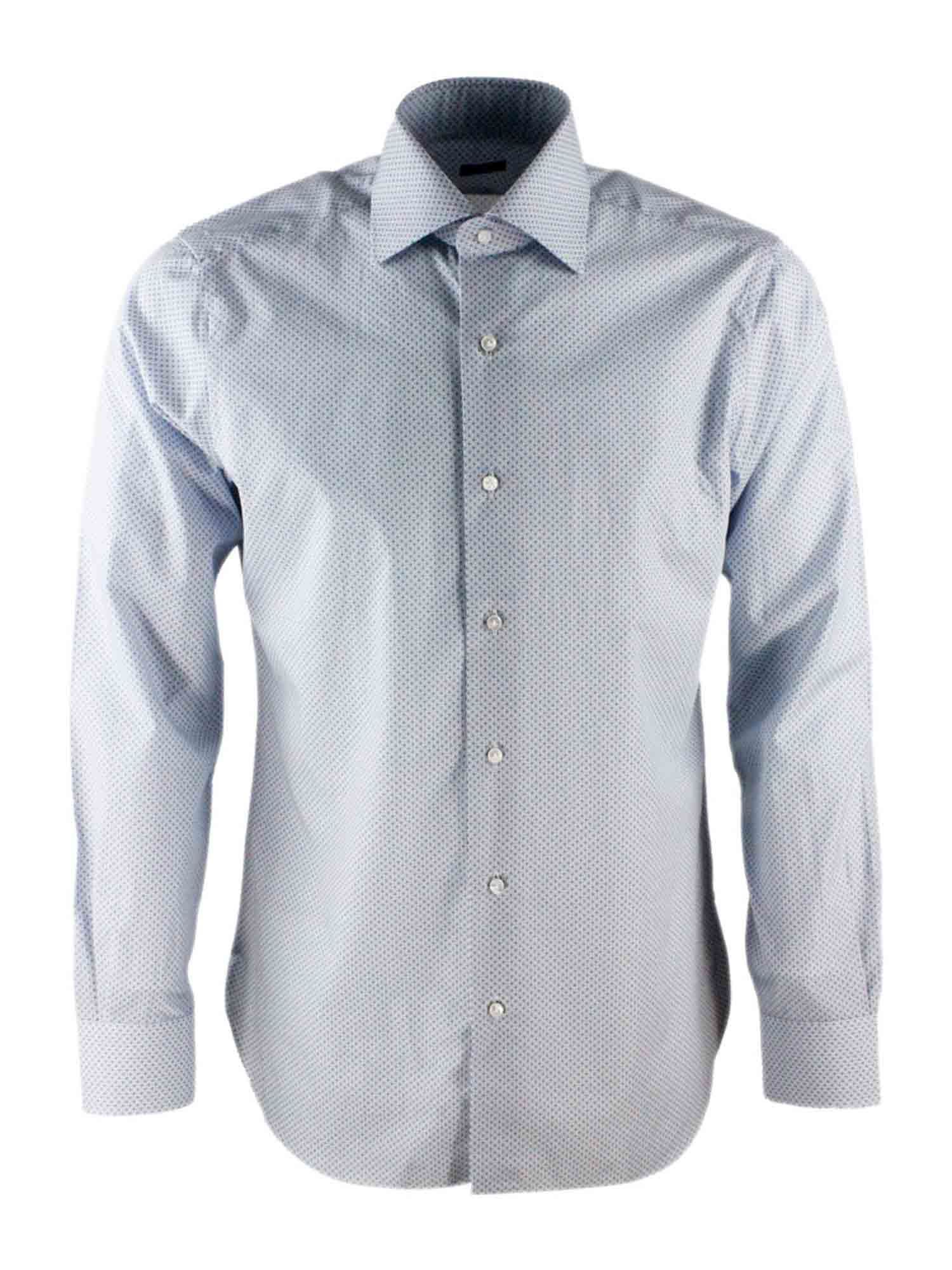 Barba SQUARE AND CIRCLES SHIRT IN LIGHT BLUE