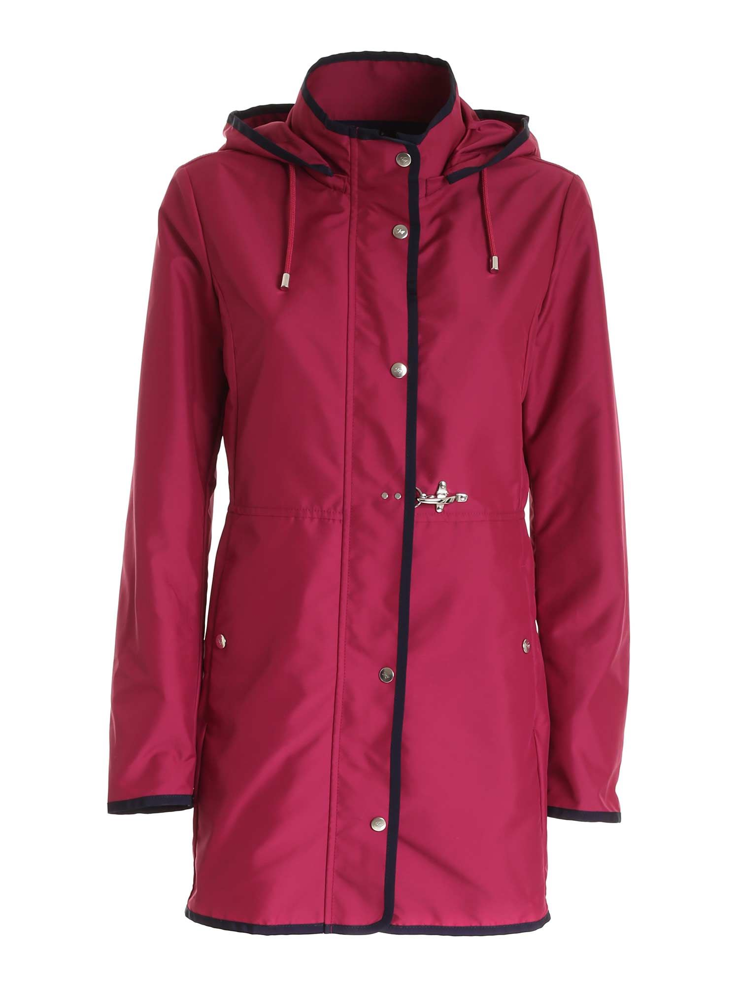 Fay VIRGINIA LAZY RAINCOAT IN FUCHSIA
