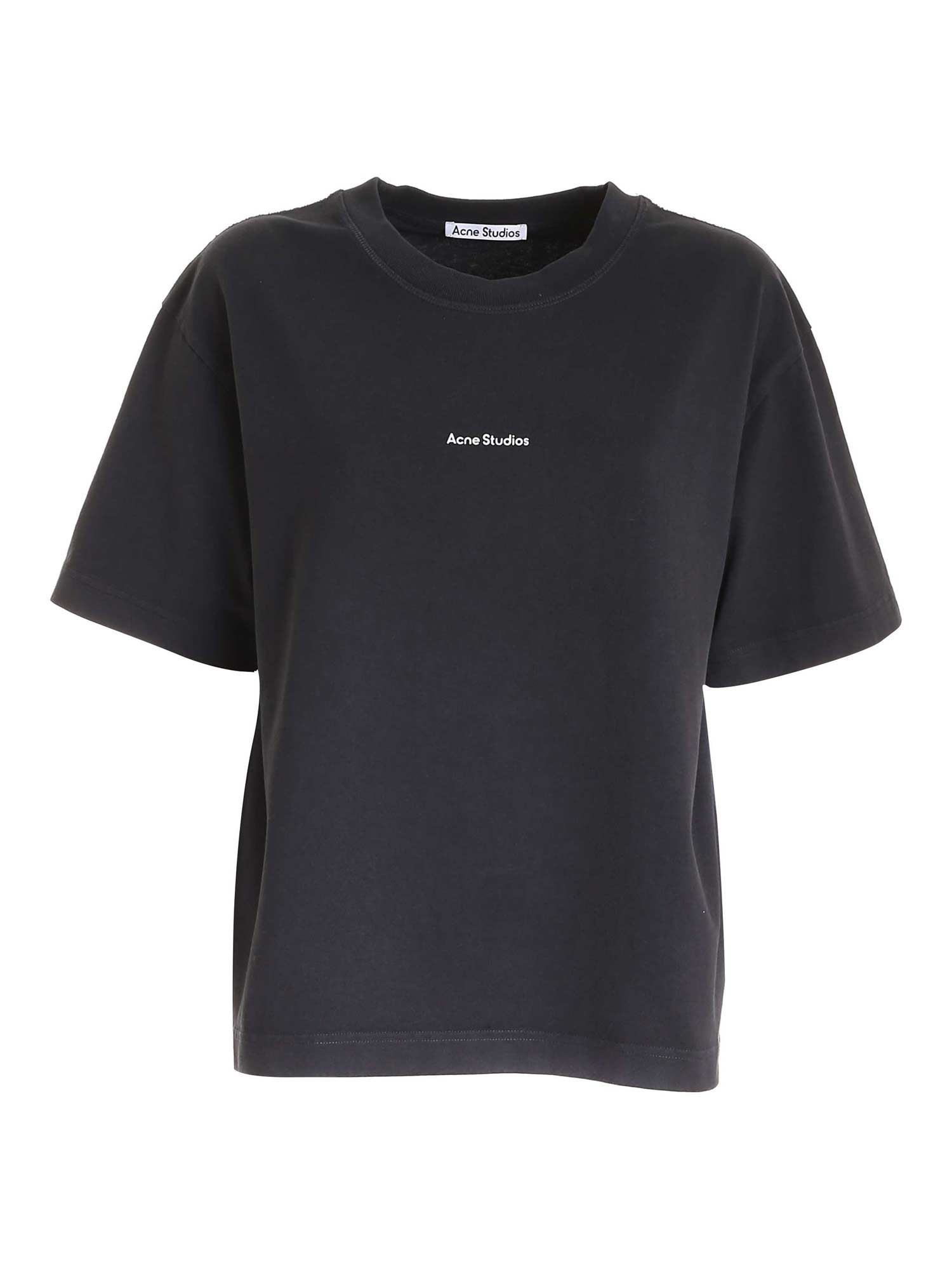 Acne Studios LOGO PRINT T-SHIRT IN BLACK