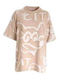 Acne Studios - All-over print T-shirt in beige