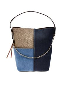 Borbonese - Medium Etoile bucket in blue