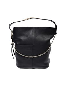 Borbonese - Medium Etoile bucket bag in black