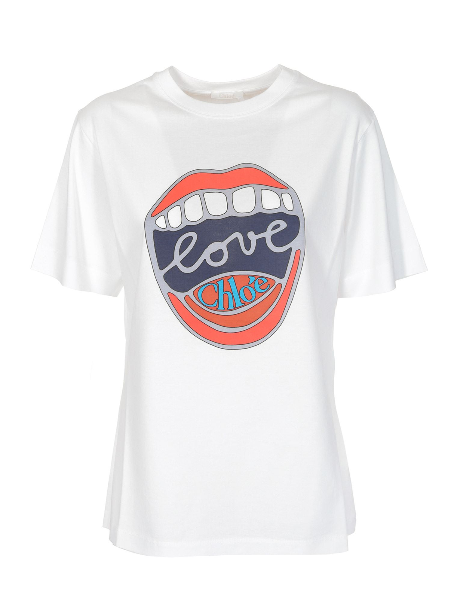 Chloé Cottons LOVE T-SHIRT IN WHITE