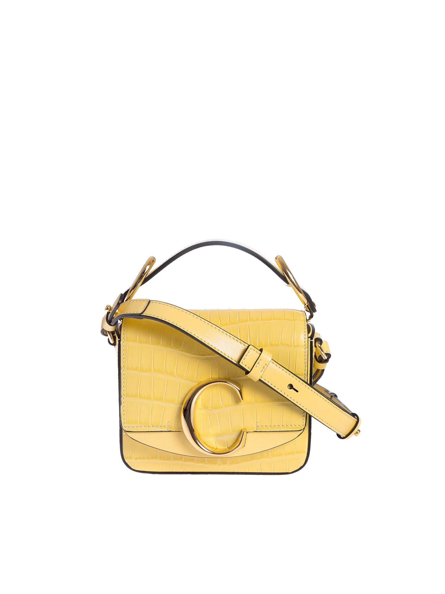Chloé MINI SQUARE BAG IN SOFTY YELLOW