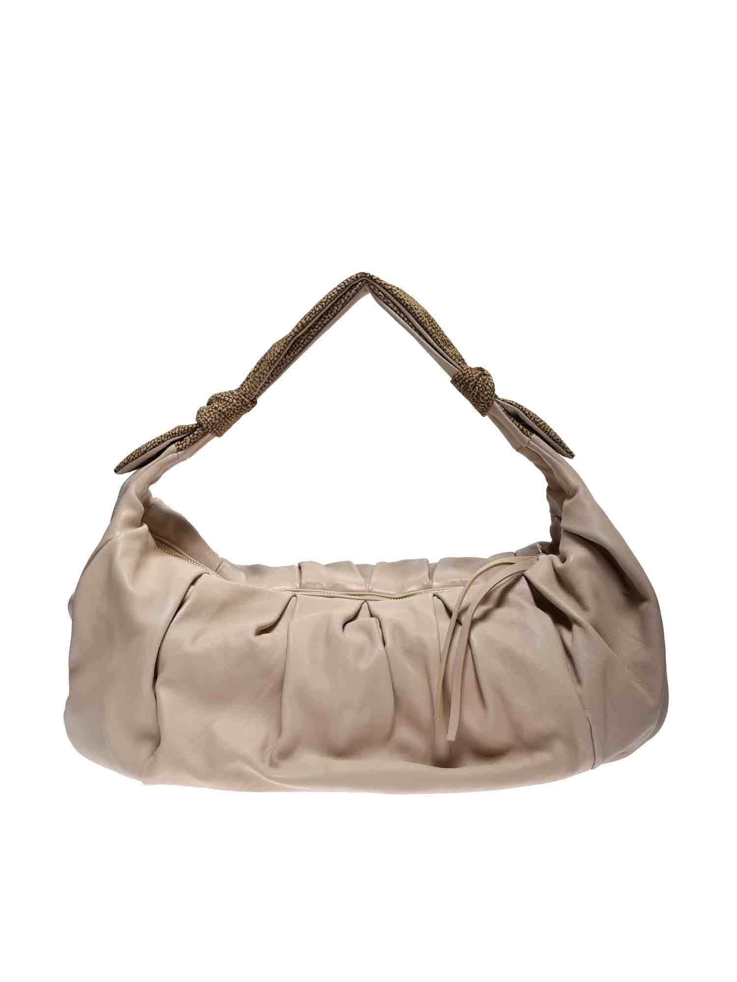 Borbonese LARGE DUNA BAG IN BEIGE