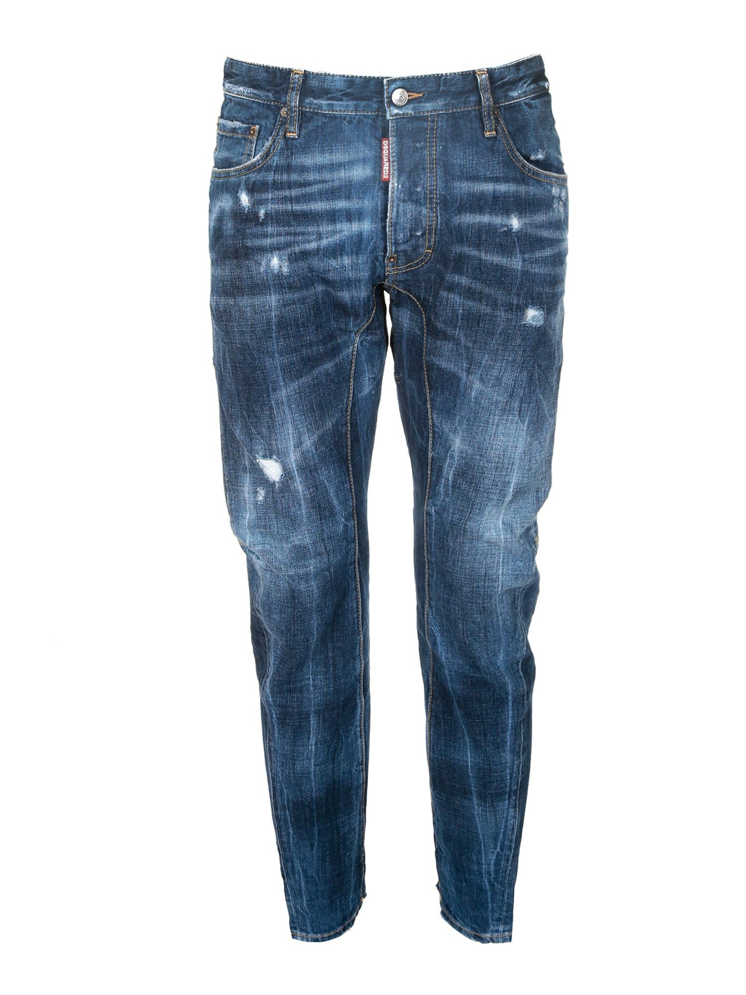 Dsquared2 Cottons TIDY BIKER JEANS IN BLUE