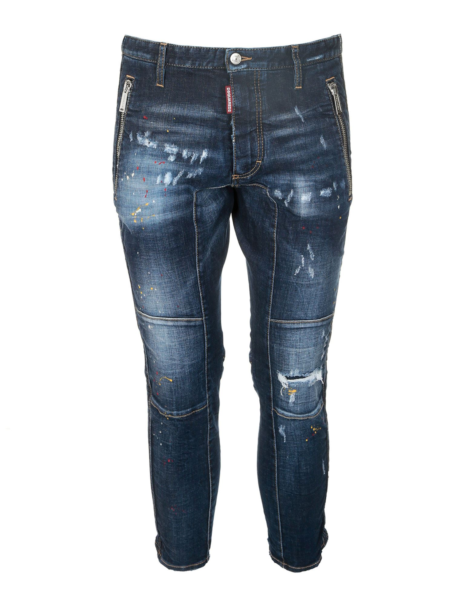 Dsquared2 Denims SEXY BIKER JEANS IN BLUE