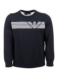 Emporio Armani - Emporio Armani Kids logo sweater in blue