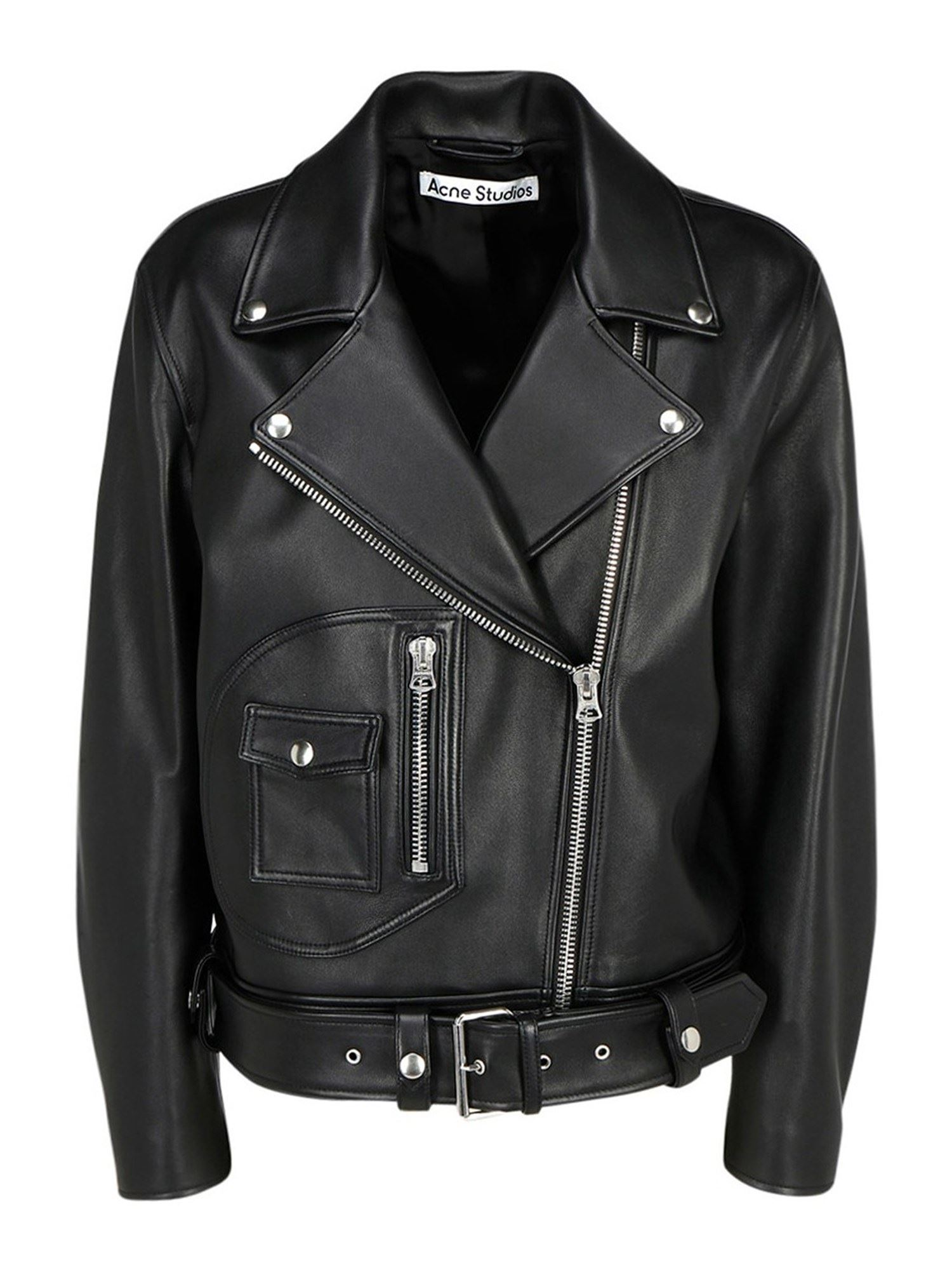 Acne Studios LEATHER BIKER JACKET IN BLACK