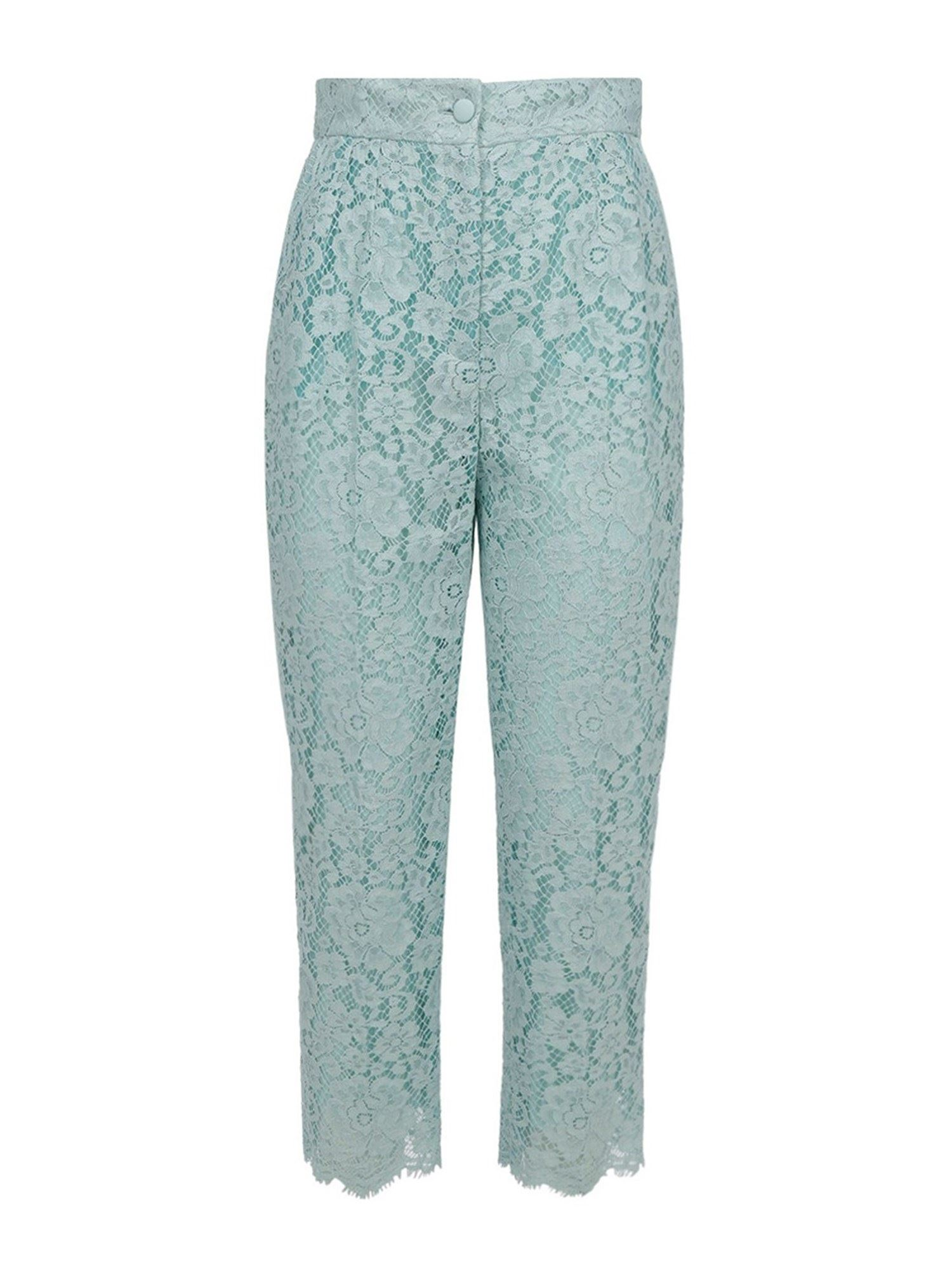 Dolce & Gabbana LACE PANTS IN LIGHT BLUE