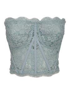 Dolce & Gabbana - Lace corsage top in light blue