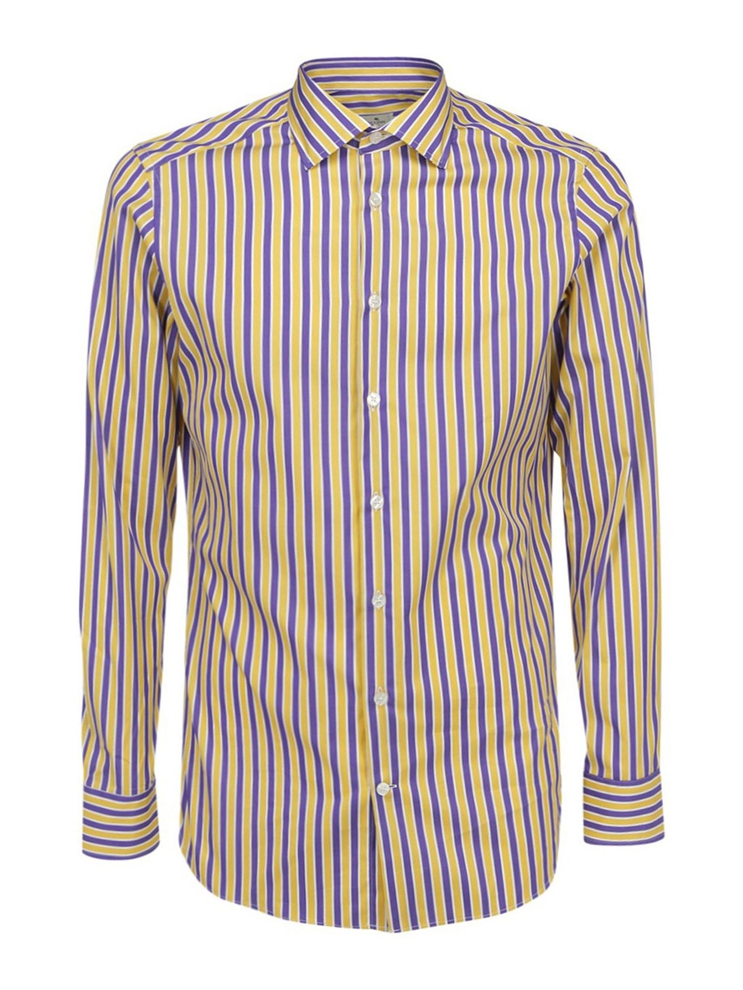 Etro COTTON STRIPED SLIM FIT SHIRT IN MULTICOLOR