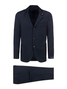 Lardini - Wool suit in blue