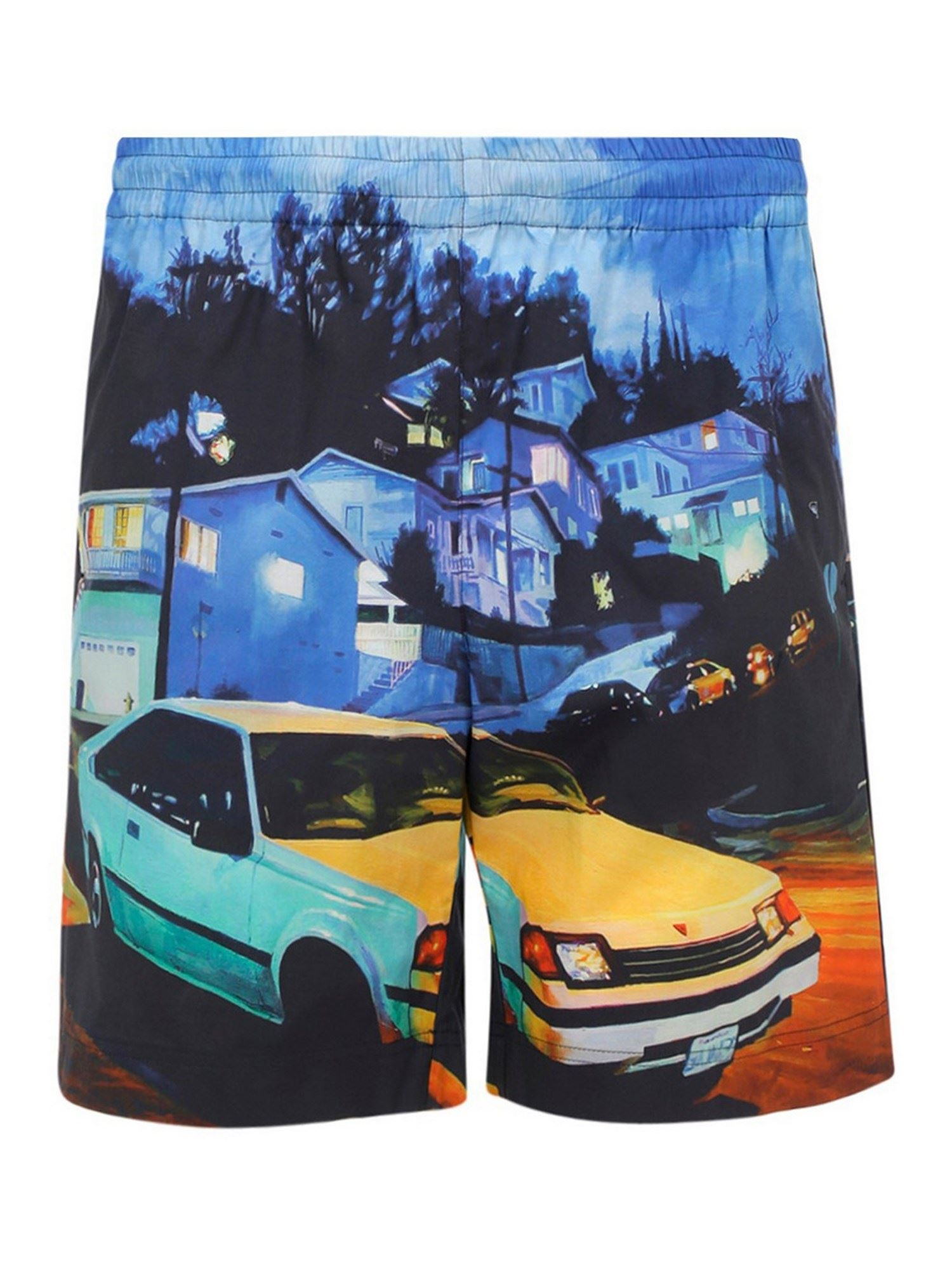 Msgm Cottons SETH ARMSTRONG'S PRINT BERMUDA SHORTS IN MULTICOLOR