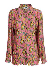 MSGM - Floral patterned shirt in pink