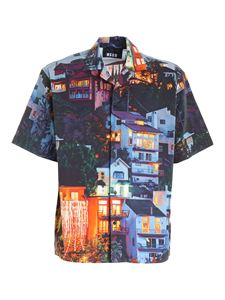 MSGM - All over print shirt in multicolor