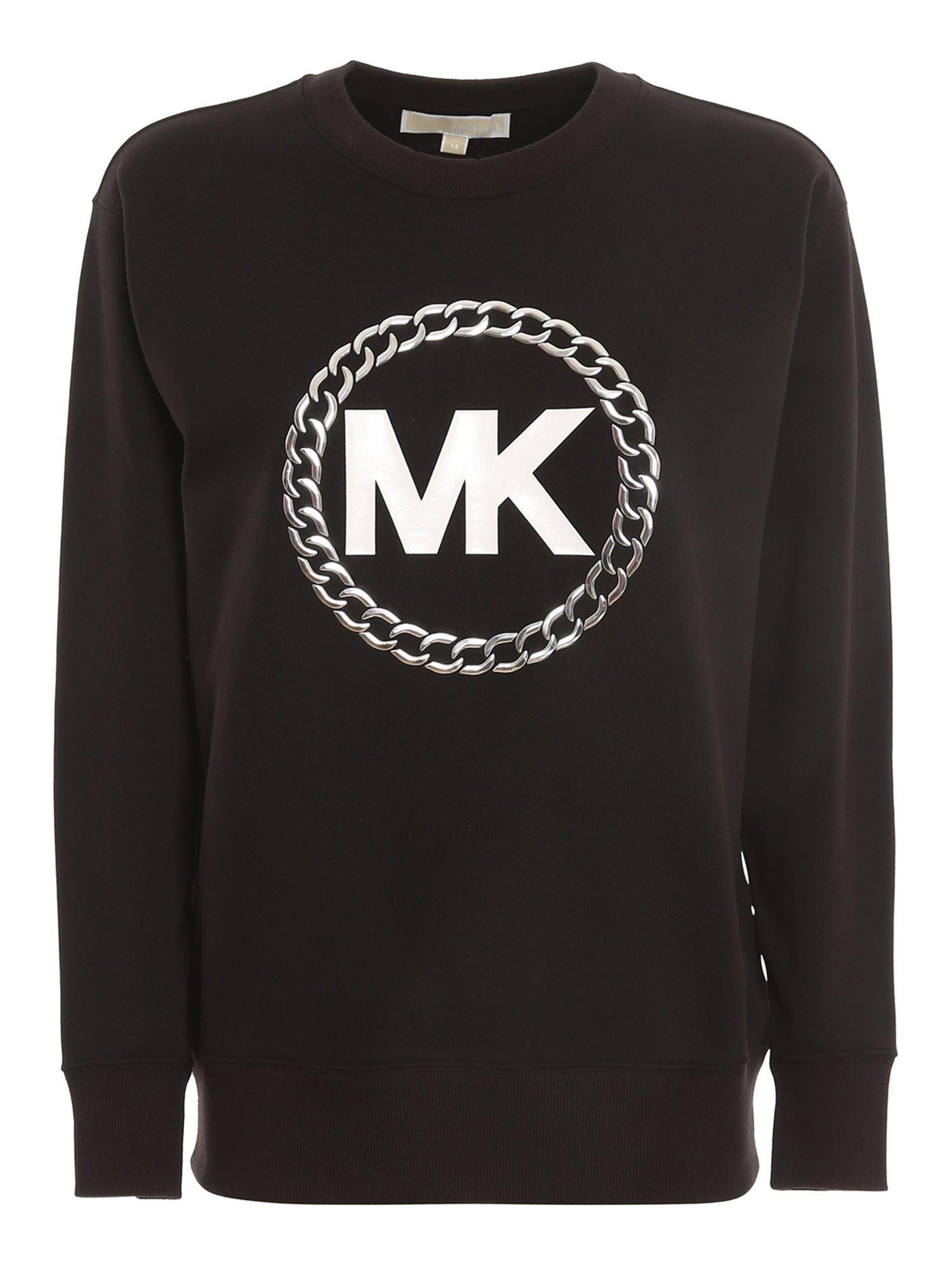 Michael Kors CHAIN LOGO SWEATSHIRT IN BLACK