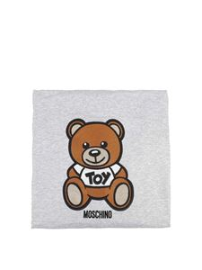 Moschino Kids - Teddy Bear blanket in melange grey