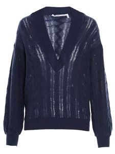 Agnona - Cable-knit sweater in blue
