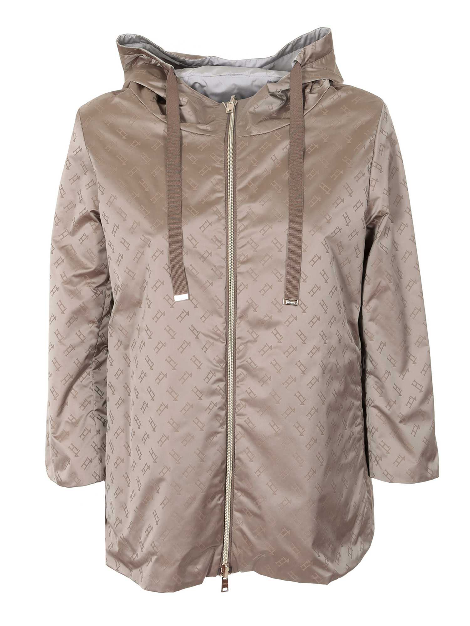 Herno Jackets REVERSIBLE WATERPROOF JACKET IN GREY