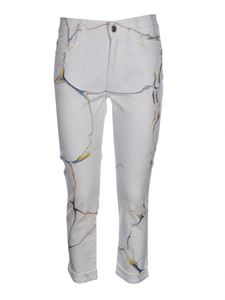 Stella McCartney - Marbled jeans in white