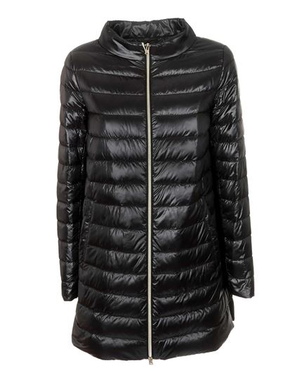 Herno - A-shaped down jacket in black