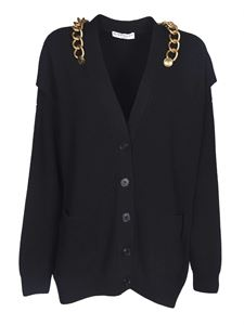 Givenchy - Cardigan nero con catena