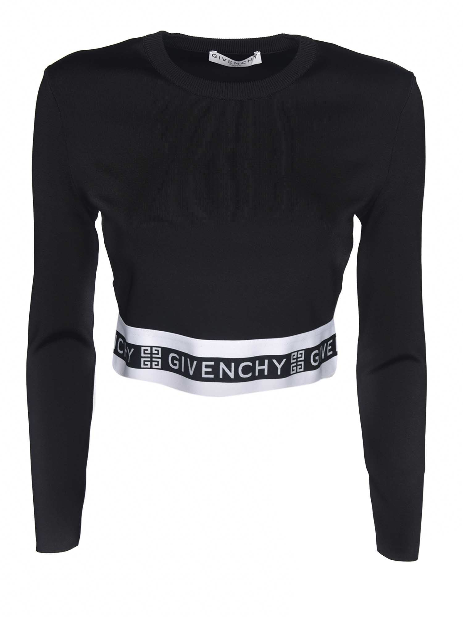 Givenchy LOGO CROP T-SHIRT IN BLACK