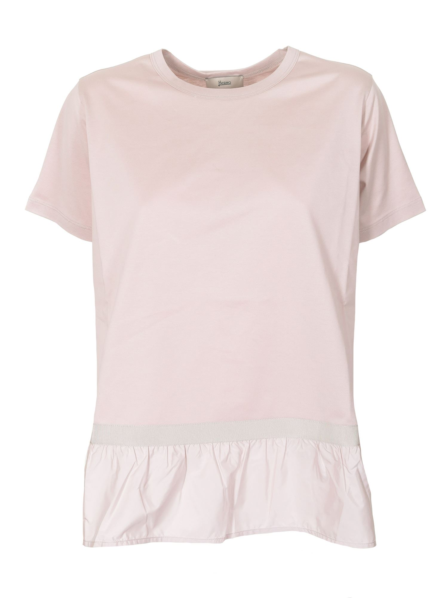 Herno FLOUNCED T-SHIRT IN PINK