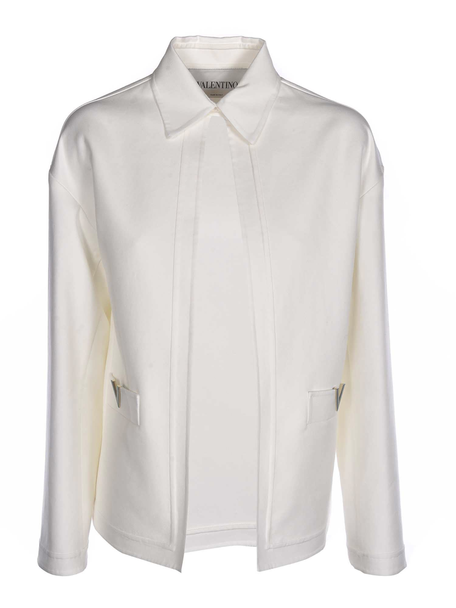 Valentino COTTON JACKET IN WHITE