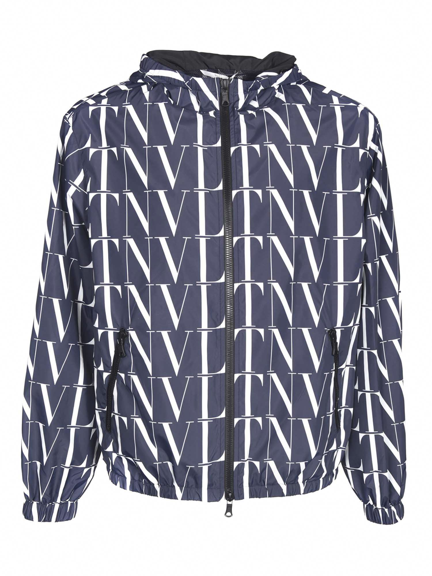 Valentino MONOGRAM JACKET IN BLUE