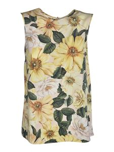 Dolce & Gabbana - Floral print top in yellow