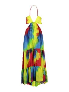 Alexandre Vauthier - Tie-dye multicolor silk dress