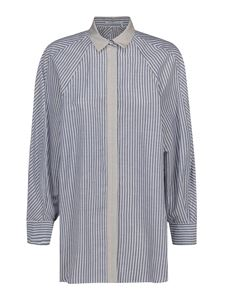 Agnona - Striped shirt in light blue and white