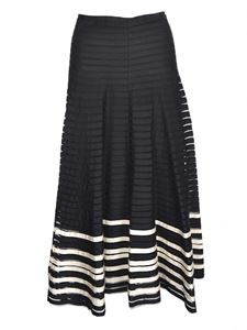 Red Valentino - Tulle and ribbons skirt in black