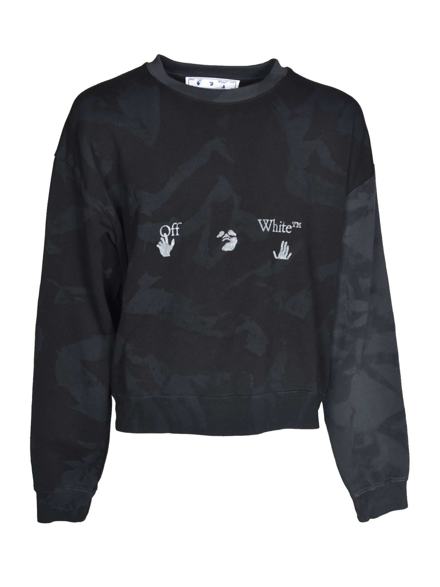 Off-White TIE DYE SWEATSHIRT IN GREY