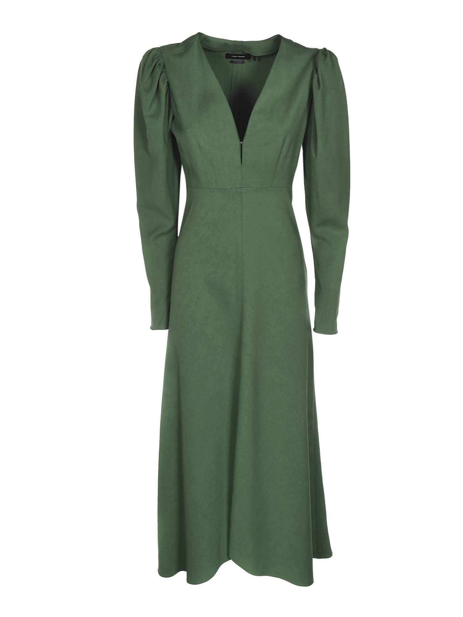 Isabel Marant Silks ISABEL MARANT SILABI DRESS IN GREEN