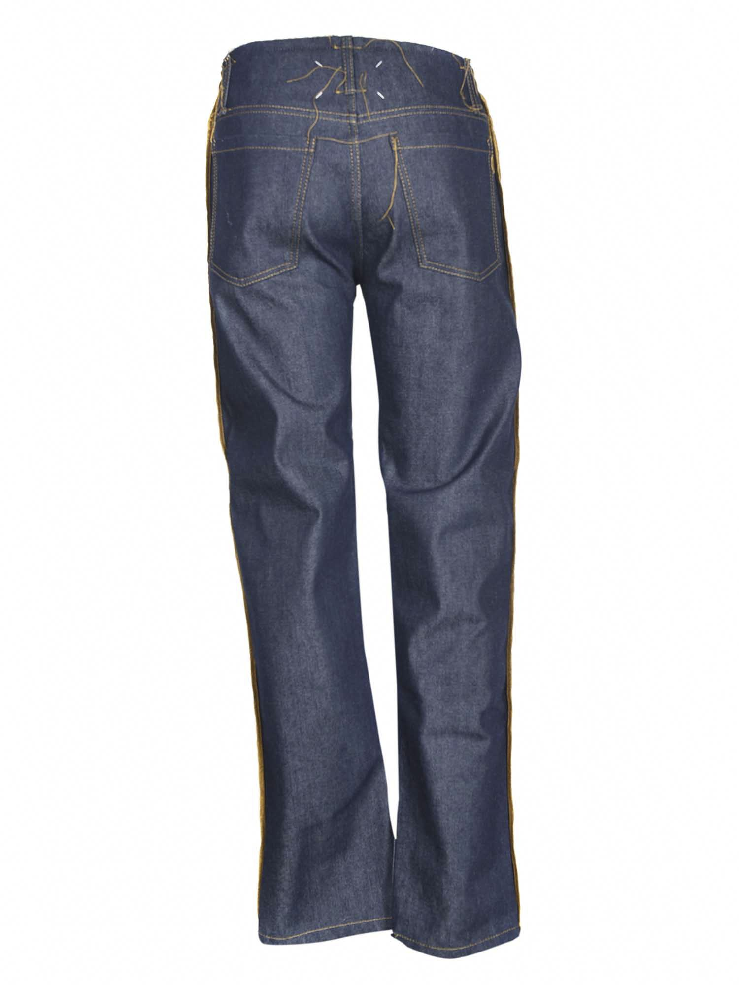 Maison Margiela SIDE RIBBONS JEANS IN BLUE