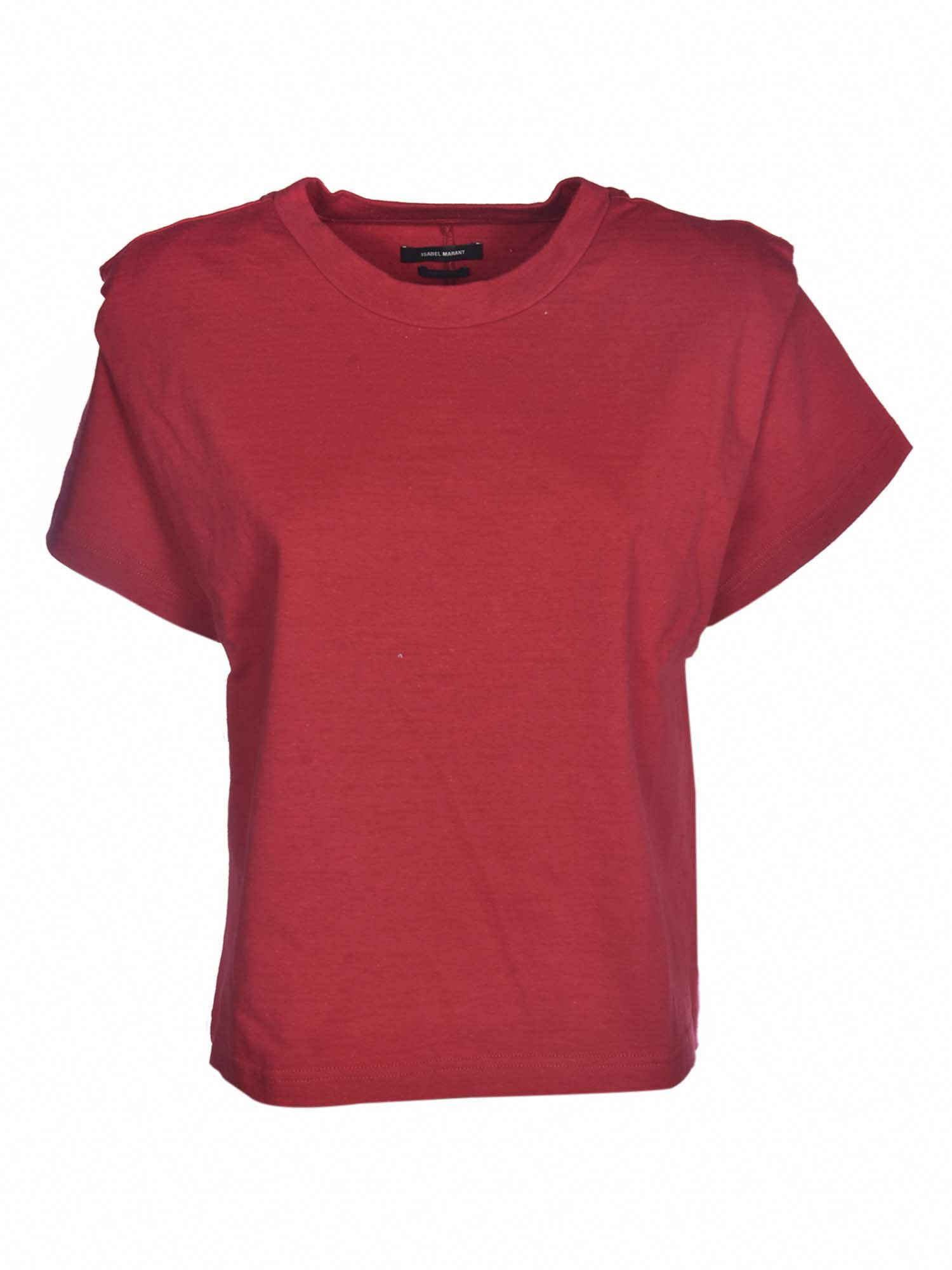 Isabel Marant ISABEL MARANT ZELITOS T-SHIRT IN RED