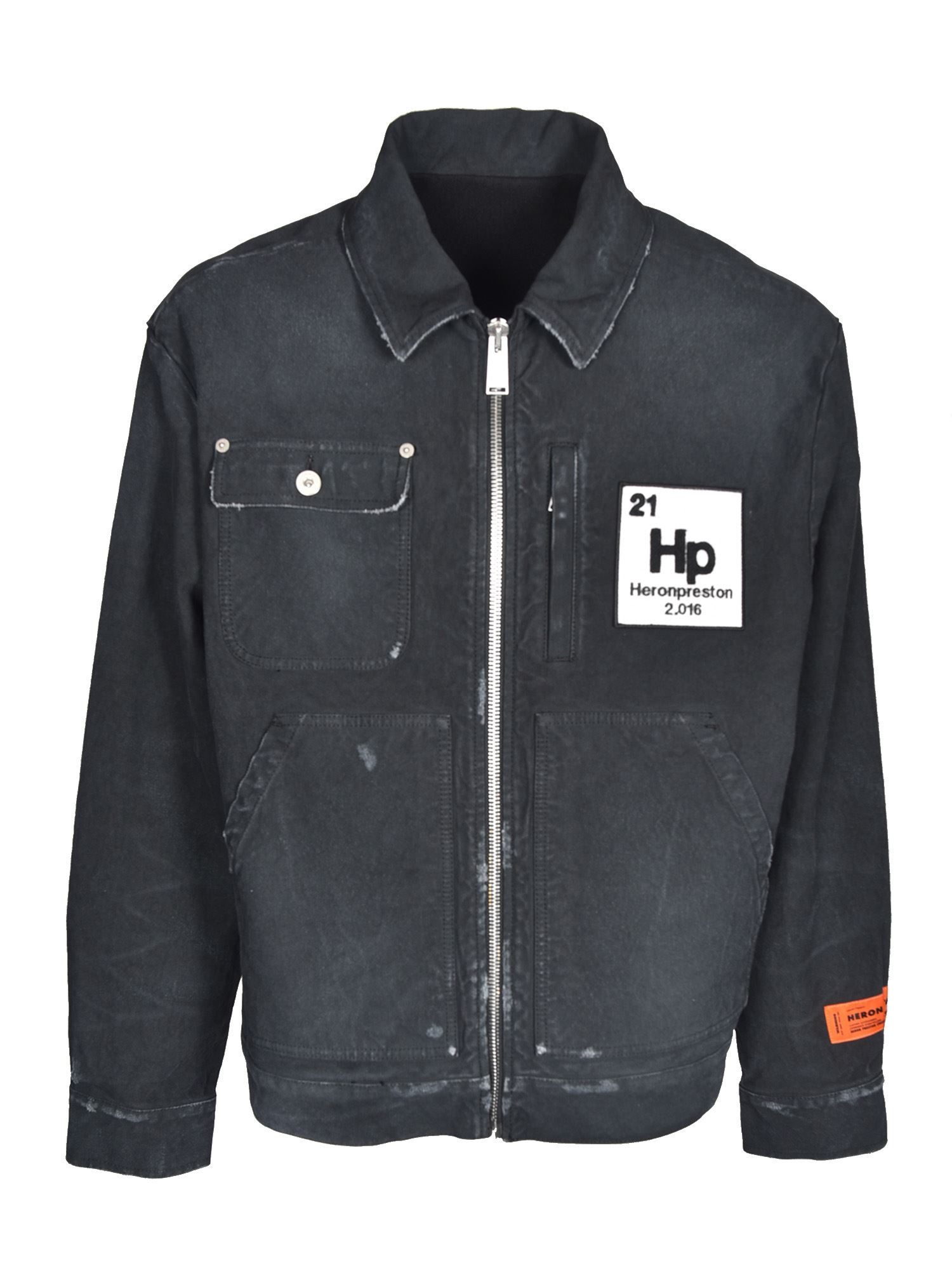 Heron Preston WORKER DENIM JACKET IN BLACK