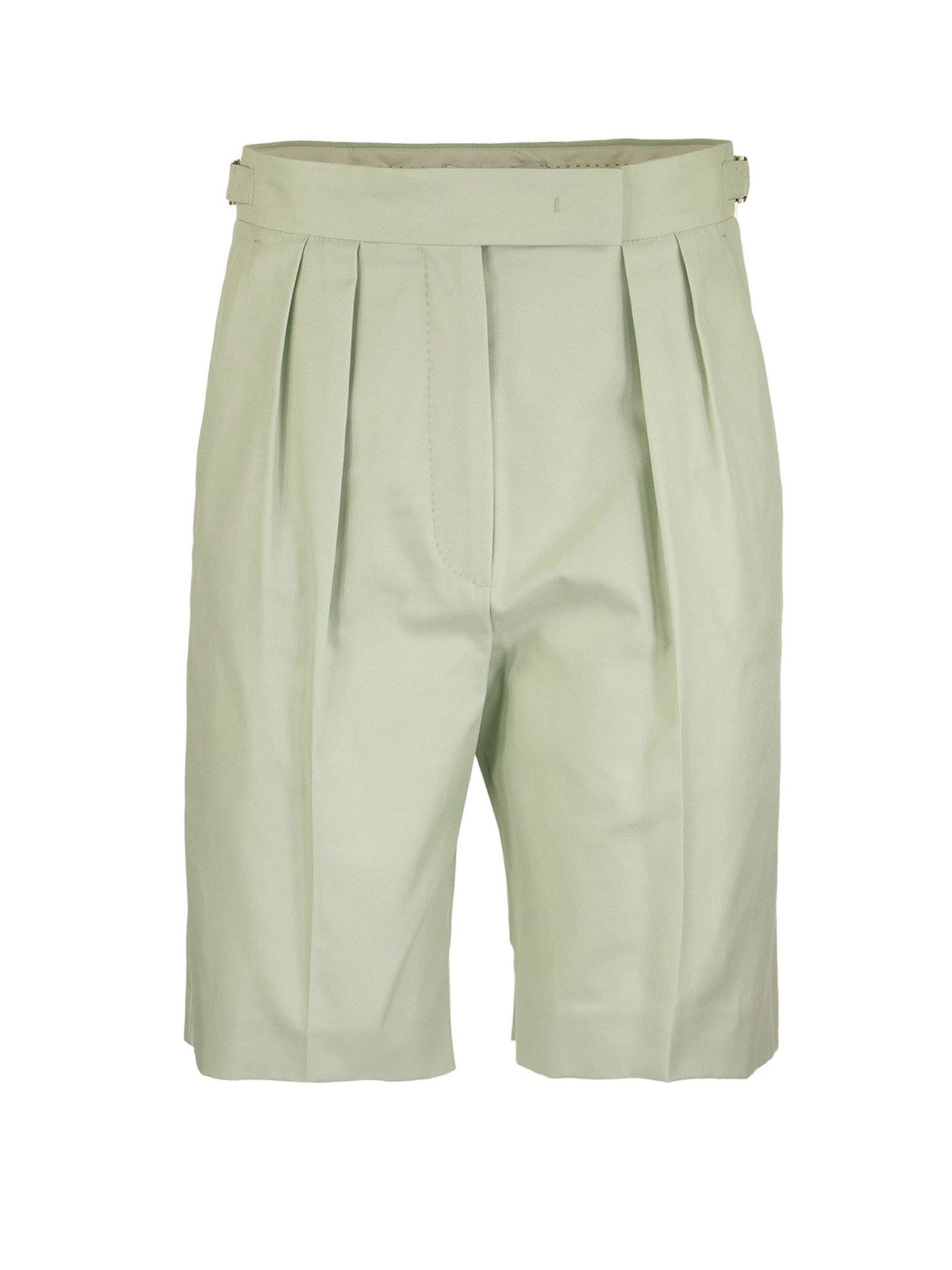 Max Mara Shorts SAFARI BERMUDA SHORTS IN GREEN